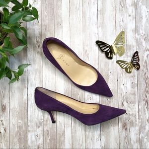 IVANKA TRUMP Purple Suede Pumps-7.5